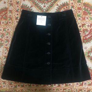 Women's Kate Spade Velvet Button Down Skirt NWT